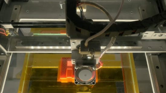 Cover Image for Head Of 3D Printer In Action