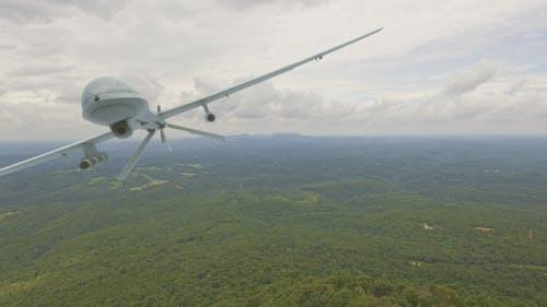 Military Predator Drone Fly By