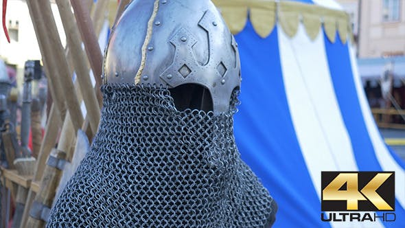 Thumbnail for Chain Mail Medieval Helmet