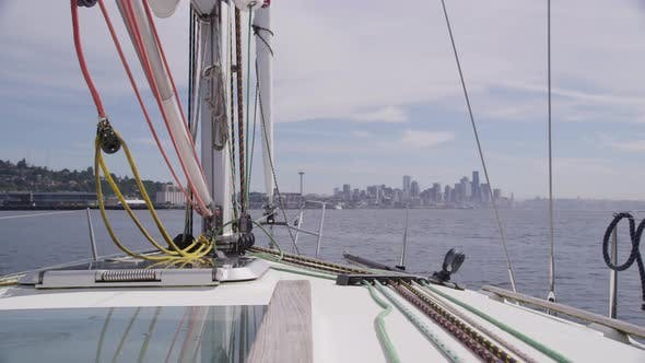 Thumbnail for Sailing on sailboat. Shot on RED EPIC for high quality 4K, UHD, Ultra HD resolution.
