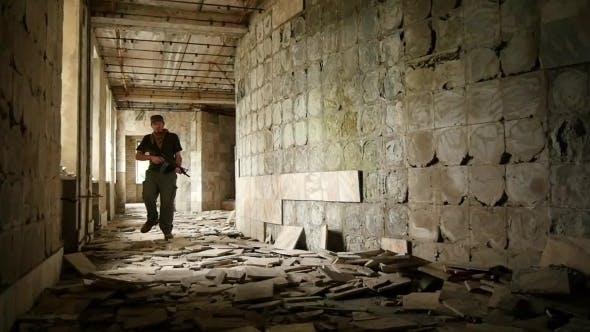 Thumbnail for Terrorist Runs In  Building