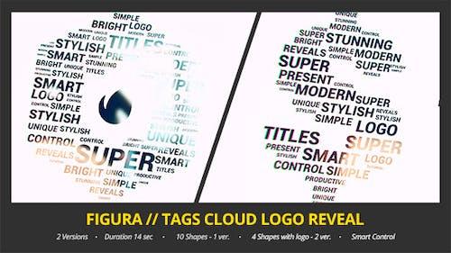 Figura // Tags Cloud Logo Reveal