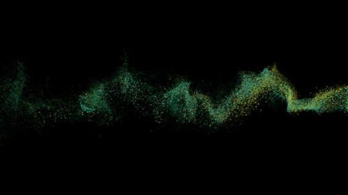 Abstract Particles Moving on Black Background