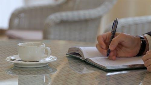 Hand Writing In Datebook