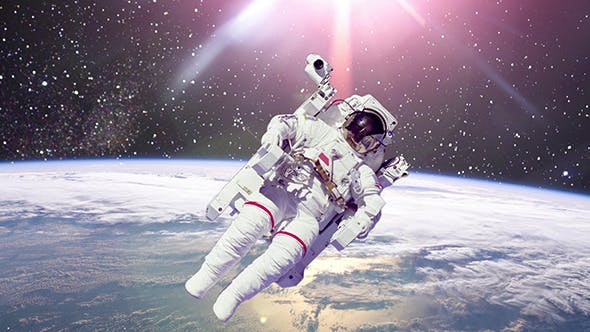 Thumbnail for Astronaut In Outer Space Against Of Planet Earth