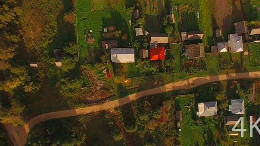 Thumbnail for Beautiful Small Village and House. Aerial
