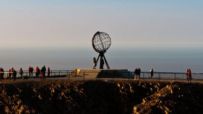 Monument At The North Cape