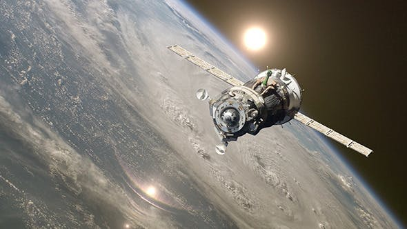 Thumbnail for Spaceship At The Earth Orbit