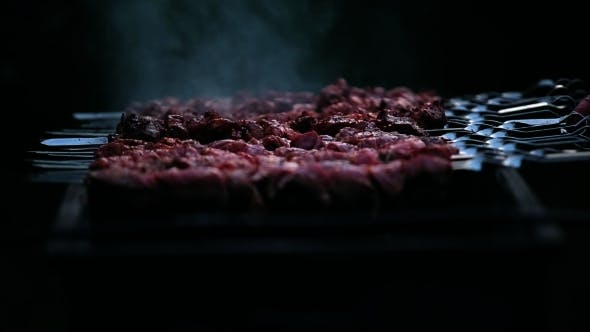 Thumbnail for A Tasty Meat Cooking On a Fire
