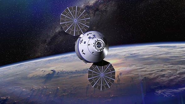 Thumbnail for Space Satellite Orbiting The Earth