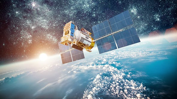 Cover Image for Space Satellite Over The Planet Earth