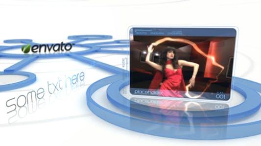 Thumbnail for Affichage Vidéo élégant il diapositive vitrine