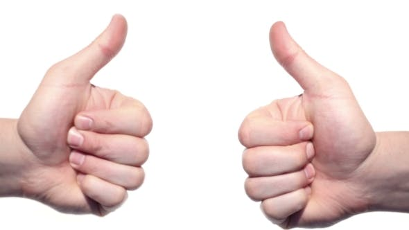 Cover Image for Two Thumbs Up Isolated On a White Background.