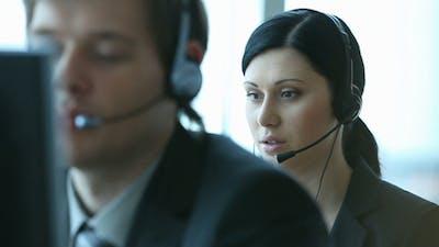 Customer support worker