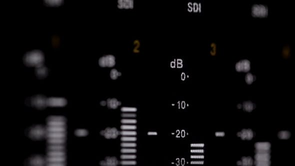 Sound Indicators On The Professional Video