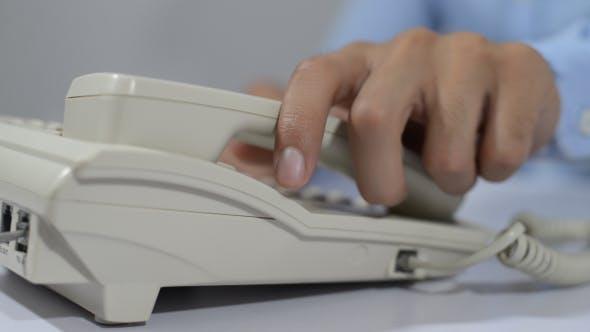 Attending Telephone Call
