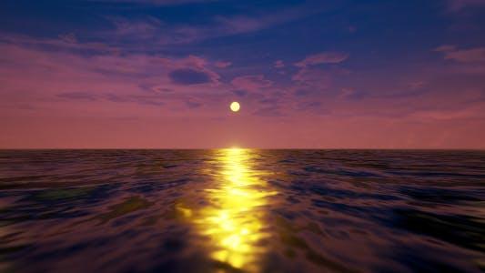 Relastischer Ozean Sonnenuntergang