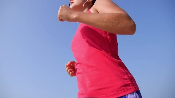 Thumbnail for Healthy Sport Lifestyle - Woman Jogging On Beach