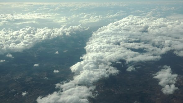 Thumbnail for The Airplane Is Flying Above The Clouds