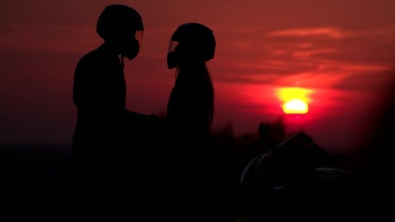 Thumbnail for Silhouettes Of Couple Holding Each Other By Hands