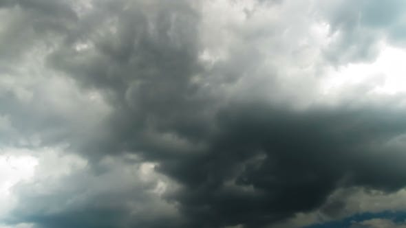 Thumbnail for Clouds Moving In The Blue Sky.