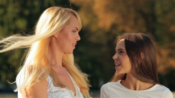 Thumbnail for Teenage Girl Outdoor With Her Mom