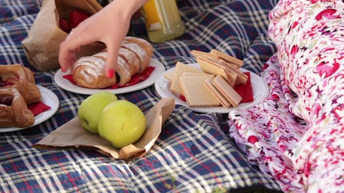 Food For A Picnic On The Mat