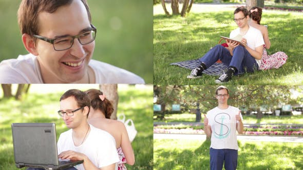 Thumbnail for Man In Glasses In Park
