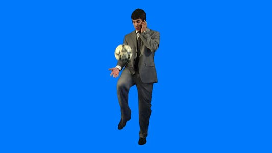 Cover Image for Sporty businessman