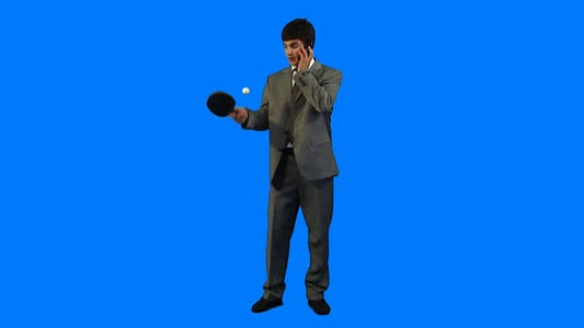 Cover Image for Businessman playing ping-pong