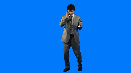 Thumbnail for Businessman with dumbbells