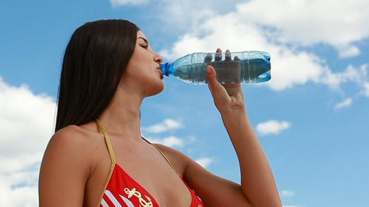 Thumbnail for Girl drinking water