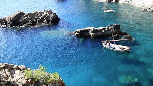 Latin Sailboat At The Sea
