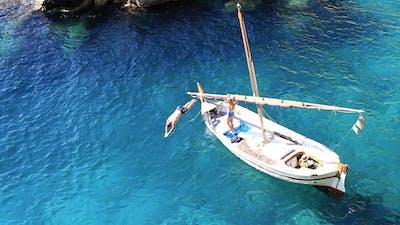 Sailing Boat At The Mediterranean