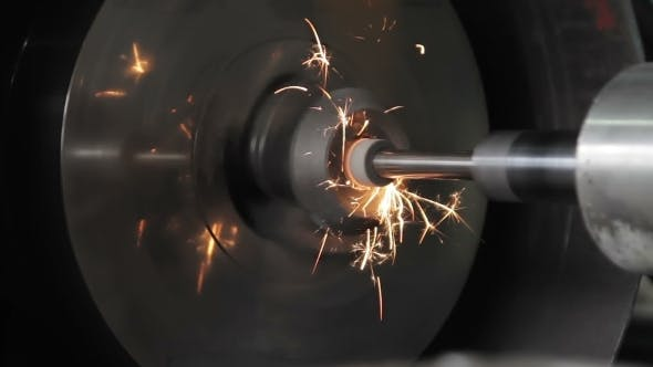 Thumbnail for The Machine Grinds Workpiece