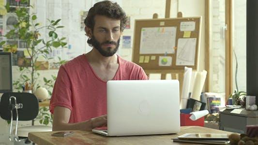 Thumbnail for Laptop User At Home Work Studio