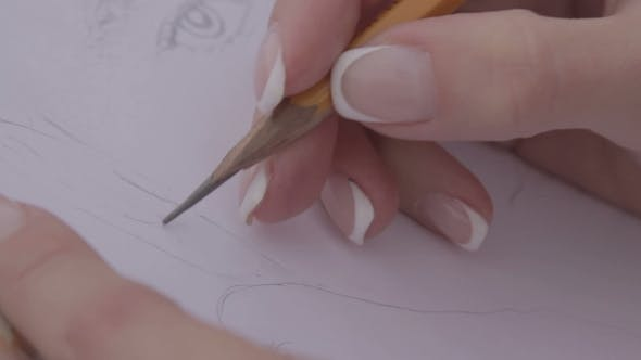 Thumbnail for Woman Draws a Portrait