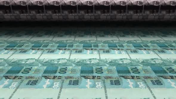 Printing Money Brazilian Real