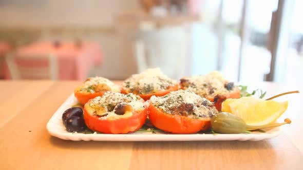 Thumbnail for Vegetable Meal On A Plate In A Restaurant 2