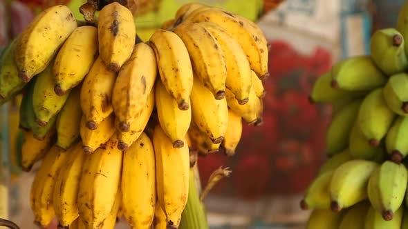 Thumbnail for Ansicht von Bananen hängen in lokalen Geschäft in Mirissa, Sri Lanka. 2
