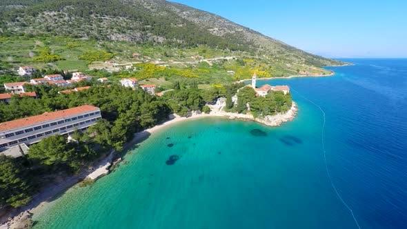Thumbnail for View Of Beautiful Dominican Monastery In Bol On Island Of Brac, Croatia. 1