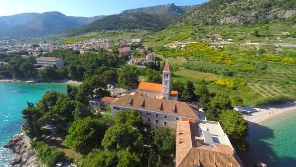 Thumbnail for View Of Beautiful Dominican Monastery In Bol On Island Of Brac, Croatia. 5
