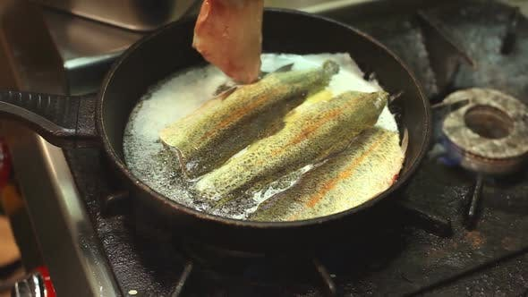 Thumbnail for Frying Fish In A Pan 1