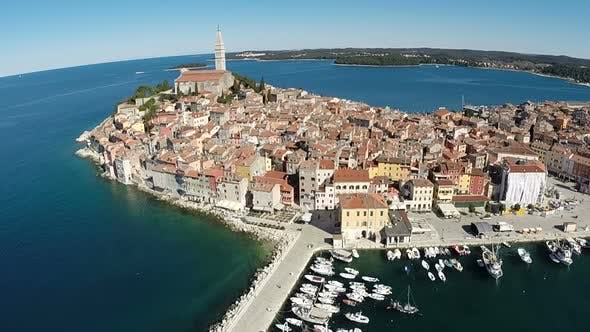 Thumbnail for Beautiful Aerial View Of The City Of Rovinj 2