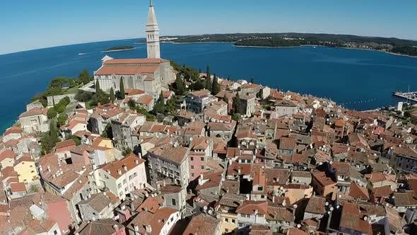 Thumbnail for Beautiful Aerial View Of The City Of Rovinj 4