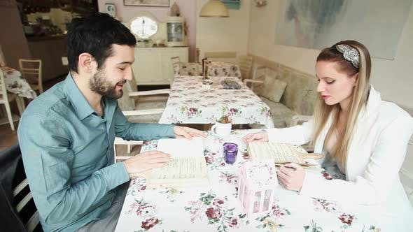 Thumbnail for Couple In Restaurant Reading Menus 3
