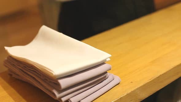 Thumbnail for Waiter Folding Napkins