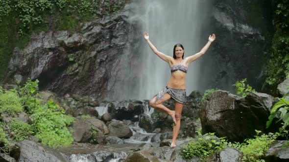 Thumbnail for Woman At Waterfall 2