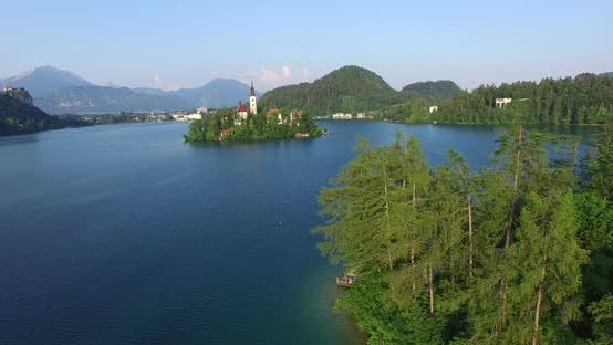 Thumbnail for Aerial View Of Beautiful Lake Bled In Slovenia. 2