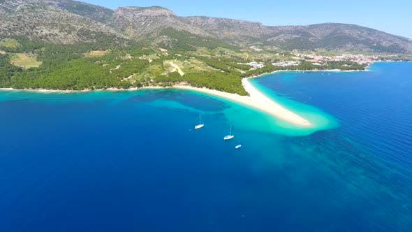 Thumbnail for Aerial View Of Beautiful Sandy Bay In Bol On The Island Of Brac, Croatia. 1